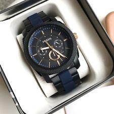 Fossil Watch * FS5164 Machine Knurled Chrono Black, Rose & Blue Steel COD PayPal
