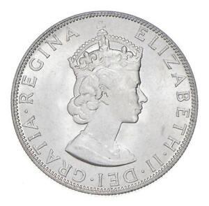 Choice BU Unc 1964 Bermuda 1 Crown Silver Coin - Mint State *770