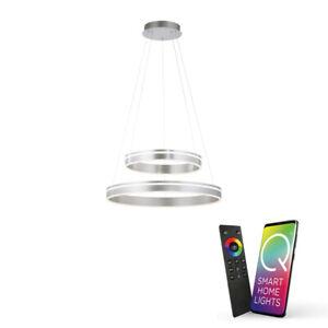 Paul Neuhaus Q-VITO LED Pendelleuchte, Smart Home, stahlfarben, Fernbedienung