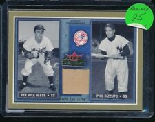2002 Fleer Pee Wee Reese Phil Rizzuto Rival Factions Game Worn Pants Relic