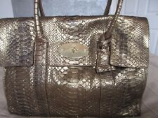 c61984178ef 100% GENUINE MULBERRY BAYSWATER BAG SNAKE SKIN - METALLIC DARK GOLD PYTHON  BN