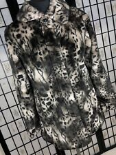 BHS Tammy Coat 12-13 Years Animal Leopard Faux Fur Soft Winter School Small