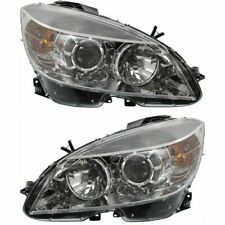 Fits For 2008 - 2011 Mercedes Benz C-Class Headlight Pair (2−9−07)