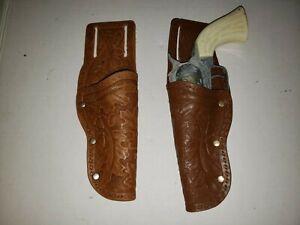Vintage Toy Cap Gun W/ extra Holster Belt Tootsie Toy Pony Boy Western Cowboy