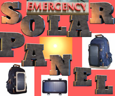 Backpack W/ solar panel Charger School BLUE Camping,hiking travel emergency*