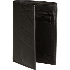 Fox Racing  Silencer Black Leather Money Bi-Fold Wallet