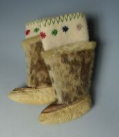 Cute vintage pair  Native American children's boots inuit eskimo