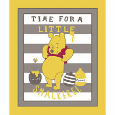 POOH FABRIC baby QUILT TOP nursery FABRIC Winnie the POOH STORY OF HUNNY NEW