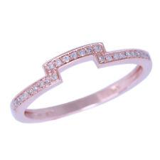 Hot! Solid 14K Rose Gold Engagement Wedding Bridal Enternity Diamond Band Ring