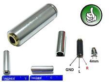 2x 3.5mm 4 Pole Female Repair headphone Jack Plug Audio Soldering silver