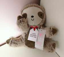 """Sainsburys Mini Sloth Soft Plush Toy Brown 'Love Hanging With You' 8"""""""