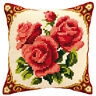 Red Roses : Vervaco Chunky Cross Stitch Cushion Kit  - 1200614