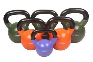 POWERT Vinyl Coated Kettlebell for Weight Lifting Workout 5-50LB--Single