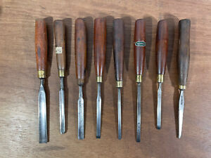 Antique Vintage Set Wood Carving Tools Chisels Gouges, Marples, Sorby