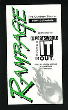 Milwaukee Rampage--1994 Pocket Schedule--Sportsworld--USISL