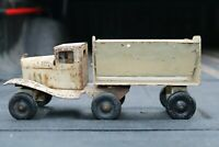 Girard Toy Truck with side dump trailer - pressed steel - USA
