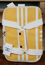 Business and Pleasure Co. Insulated Cooler Bag Yellow Striped-FabFitFun NewW/tag