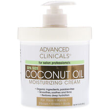 Advanced Clinicals Coconut Oil Cream Moisturizing Lotion 16oz