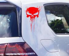Totenkopf Auto Aufkleber Blood Skull Totenkopf Blut Sticker Motorrad tattoo
