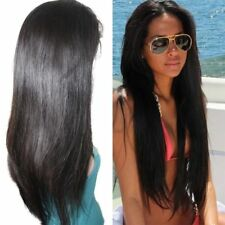 "Lace Front/Full Lace Wig 100% Indian Real Human Hair Straight 12""-24"" baby hair"