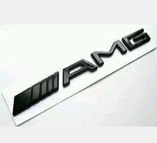 BLACK AMG BOOT BADGE EMBLEM FOR MERCEDES  C CL CLK SLK S SL E CLASS UK STOCK