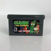 VGUC Nintendo Gameboy Advance Gumby Vs. The Astrobots Video Game Cartridge RARE!