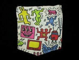 KEITH HARING ART T SHIRT JUNK FOOD Pop Graffiti Pocket Tee Radiant Baby Adult SM