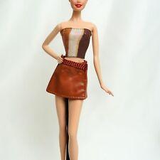 Barbie Muñeca traje Ropa Sin Tirantes Top Mini Falda Como Nuevo De Paquete Sin Muñeco