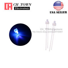 100pcs 2mm LED Diodes Water Clear Purple/UV Light Round Top Ultra Violet USA