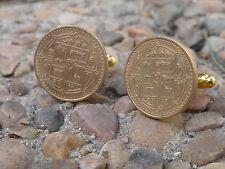 Nepali Rupee Coin Cufflinks -- Coin Money Nepal Jewelry Everest Asian Kathmandu