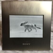 Brushed Aluminum Picture Frame with Sony 6 1/2 Square