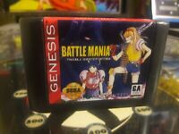 Sega Genesis Battlemania 2, Battle Mania 2, English. Game cart only. Repro.
