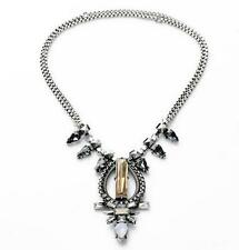 Silver Chain Crystal Style Stella Trendy Eclipse Adjustable Dot Pendan Necklace