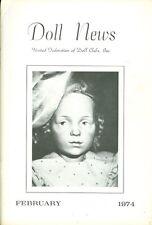 1974 Doll News Magazine United Federation of Doll Clubs (February)