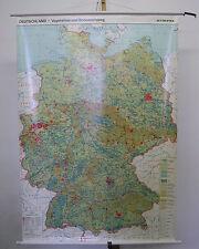 Schulwandkarte Wandkarte Bergbau Industrie Veget Boden 108x154 Deutschland ~1992