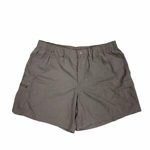 Columbia Nylon Shorts Womens Size M Mauve Elastic Waist Quick Dry Active Outdoor