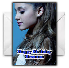 ARIANA GRANDE Personalised Birthday / Christmas / Card - Large A5 - Design 1