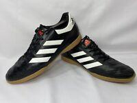 Men's Adidas Goletto VI in Black Gum Indoor Football Trainers Size UK 9 - AQ4289