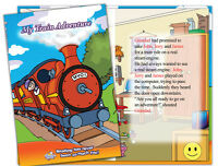 Personalised children's story book  MY TRAIN ADVENTURE Kids own name and friends