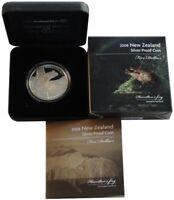 Neuseeland Silbermünze Hamilton Frog 2008 Polierte Platte Etui nur 4.000 Stück!