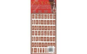 Over 'N' Over Reusable Glass Etching Stencil By Armour Etch Alphabet Lower Case