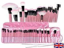 32 piece Prof Quality cosmetic make up brush set in case PINK ⭐️ SALE⭐️VALUE