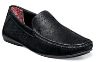 Stacy Adams Shoes Cicero Perfed Moc Toe Slip On Black 25172-001