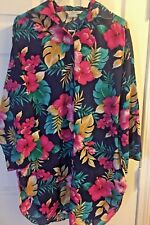 Vintage Sears At Home Wear Long Sleeve button front shirt Womens one size