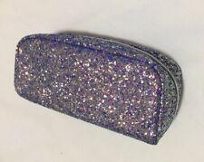 Clinique Purple Sparkle Glitter Small Makeup Cosmetic Zipper Travel Bag