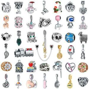 European Charm DIY Chain Bead Pendant FIT 925 Silver charms Bangle Bracelet Gift