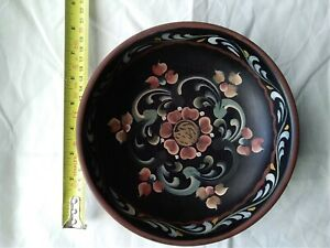 Hand-printed Wooden Bowl