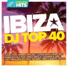 IBIZA DJ TOP 40-THE HITS 2019 - HUGEL FEAT. AMBER VAN DAY,PICCO...  2 CD NEU