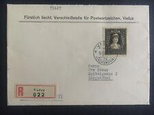 1946 Vaduz Liechtenstein cover to Langenthal # 226 Registered