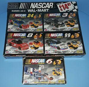 Mega Bloks NASCAR 4 Pack (#9941, #9942, #9943, #9945) Plus #9944 - All Are New